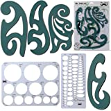 Mr. Pen- French Curve, Large Circle Template and Ellipse Template (6 Pc), Curve Ruler, Drawing Tools, Drafting Tools, Geometr