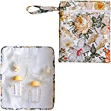 """Breast Pump Bag Wet Bag - Pump Bag with Floral Pattern Wet Dry Bag for Breast Pump Parts Pumping Bag Size is 13"""" by 11"""" Pump"""
