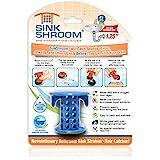 SinkShroom The Revolutionary Sink Drain Protector Hair Catcher/Strainer/Snare, Blue