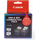 Canon PG640CL641CP Combo Pack (1 x PG640 Black & 1 x CL641 Colour), Black/Multi/Colour