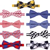 Freewindo Dog Bow Ties, 9pcs Dog Bows Adjustable Cat Collar Bows, Grooming Accessories for Small Medium Large Dogs and Adult