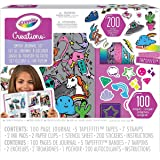 CRAYOLA 04-0466 Creations 100 Piece Smash Journal Kit, Perfect for Scrapbooking, Includes Stickers, Creative Kids!