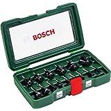 Bosch 1/4 Inch Router Bit Set In Case (15-Piece)