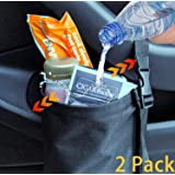 2 Pack Car Garbage Bag Organizer with Strong Load-Bearing Capacity for Front Seat,Back Seat,Center Console, Leakproof Car Tra
