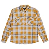 BRIXTON Mens Bowery Standard Fit Lightweight Long Sleeve Flannel Shirt Long Sleeve Button Down Shirt - Multi