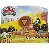 Play-Doh E4294 Wheels Excavator & Loader Toy Construction Trucks with Non-Toxic Sand Buildin' Compound Plus 2 Additional Colo