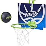 NERF Nerfoop -- The Classic Mini Foam Basketball and Hoop -- Hooks On Doors -- Indoor and Outdoor Play -- A Favorite Since 19