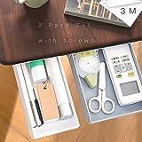 Under Desk Drawer/Storage Drawer Great for Office School Home Kitchen Bedroom Desk/Plastic Drawers Organizer for Phone Pens C