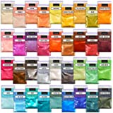 Mica Powder – Soap Making Kit – Powdered Pigments Set – Soap Making dye – 36 Coloring - Hand Soap Making Supplies - Resin Dye