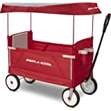 Radio Flyer 3951Z 3-In-1 EZ Folding Wagon with Canopy for kids and cargo Red