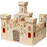 Melissa & Doug Deluxe Folding Medieval Wooden Castle - Hinged for Compact Storage^Melissa & Doug Deluxe Folding Medieval Wood