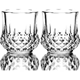 Premium Lead Free Crystal Whiskey Glass Set,Seamless Design - Perfect for Scotch, Bourbon and Old Fashioned Cocktails,10 Oz S
