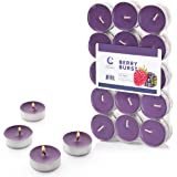 Candle Charisma Tealights Scented Candles - 30 Pack - Made in USA (Berry Burst)