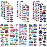 Kids Cars and Trucks Stickers Party Supplies Pack, 20 Different Sheets, Boy Stickers, Vehicle Stickers for Kids Toddler Boys