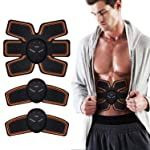 Abs Trainer,EMS Abdominal Muscle Stimulator,Abdominal Toning Belts,ABS Machine Ab Belt Toning Gym Workout Machine for Men...