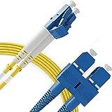 LC to SC Fiber Patch Cable Single Mode Duplex - 3m (9ft) - 9/125 OS1 - Beyondtech PureOptics Series