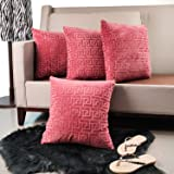 4-Pack Throw Pillow Covers 45*45cm Soft Solid Color Cushion Cover Decorative Square Set for Couch Sofa Patio Chair Bedroom Ho