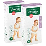 Tooshies by TOM Size 4 Toddler Organic Bamboo Disposable Eco Nappies 10-15kg, Size 4, 72 count