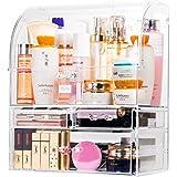 化粧品収納ボックス 大容量 メイクボックス 高透明度 強い耐久性 整理簡単 引き出し 化粧品入れ コスメ収納 女子へのギフト