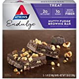 Atkins Endulge Treat Nutty Fudge Brownie Bar. Decadent Brownie Treat with Chocolatey Coating and Walnuts. Keto-Friendly. (5 B