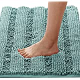 """1 Piece Large Size Non Slip Thick Shaggy Chenille Bathroom Rug Mat Extra Soft and Absorbent Striped Rug Machine-Washable 20"""""""