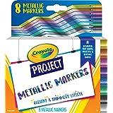 Crayola Metallic Poster Markers, Assorted Colors, Art Supplies, 8Count