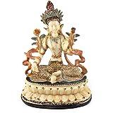 """Tara Statue 6"""" Hand-painted in Nepal Tibet Buddha Statue"""