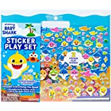 Baby Shark Sticker Play Set by Horizon Group USA Includes over 100 Reusable Puffy Stickers & 1 Fold & play Baby Shark Scene,