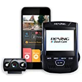 """Rexing V1P 2.4"""" LCD FHD 1080p 170 Degree Wide Angle Dual Channel Wi-Fi Dashboard Camera Recorder Car Dash Cam with Rear Camer"""