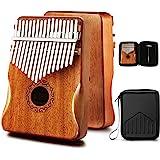 MIFOGE Kalimba Thumb Piano 17 Keys with Mahogany Wood,Mbira,Finger Piano Builts-in Waterproof Protective Box, Easy to Learn P