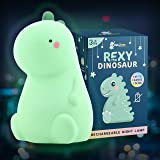 Rexy The Original Dinosaur Night Light by BabyTimes - Cute Baby Night Light, Night lamp Rechargeable LED Bedside Nursery Lamp