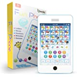 Learning Pad Fun Phone with 6 Toddler Learning Games by Boxiki Kids | Touch and Learn Interactive Tablet for Number Learning,
