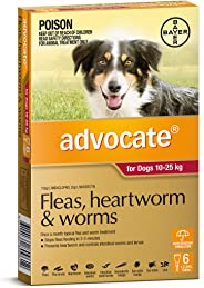 Advocate for Dogs 10-25kg, 6 Pack