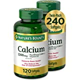 Calcium & Vitamin D by Nature's Bounty, Immune Support & Bone Health, 1200mg Calcium & 1000IU Vitamin D3, 120 Softgels (2-Pac