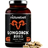 Long Jack Extract as Tongkat Ali 200:1, 1000mg Per Serving, 120 Capsules, Supports Energy, Stamina and Immune System for Men