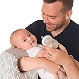 Itzy Ritzy Milk Boss Infant Feeding Support Breastfeeding and Bottle Feeding Pillow, Platinum Helix