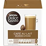Nescafe Dolce Gusto Cafe Au Lait Coffee Pods/ Coffee Capsules, 16 Capsules