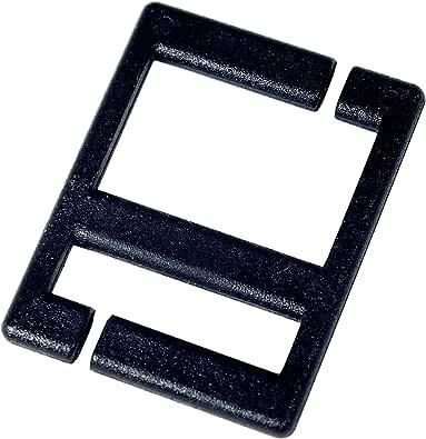 紐留具 MIMITAB オールカラーセット 黒色2個×3組入り (リュック紐 まとめる ベルト調整)