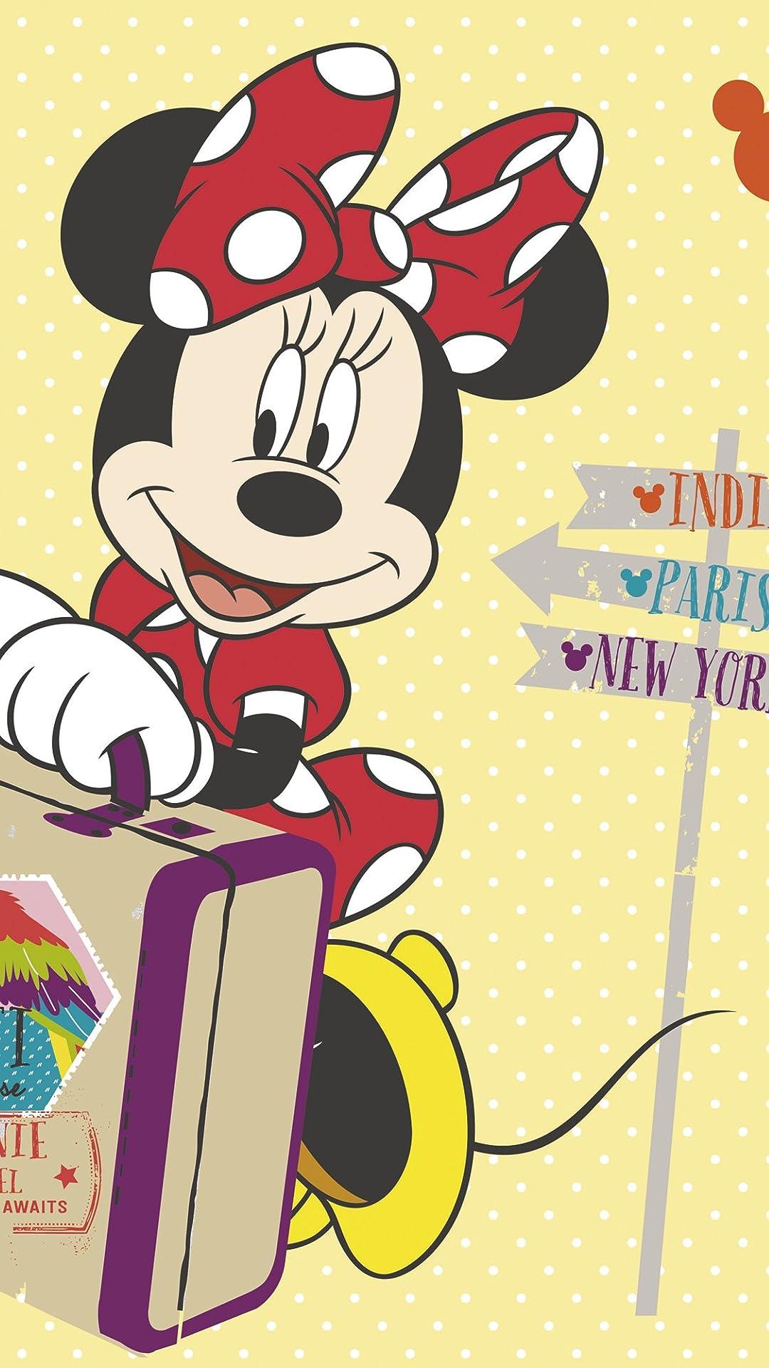 ディズニー ミニーマウス フルHD(1080×1920)スマホ壁紙/待受 画像37717 スマポ