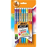 BIC Pencil Xtra Smooth Color Edition Medium Point (0.7mm), 24-Count (MPCEP24)