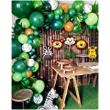 2019 Upgrade Jungle Safari Theme Party Supplies, 102 PCS Balloon Garland Kit, Favors for Kids Boys Birthday Baby Shower Decor