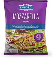 Emborg Mozzarella Shredded Cheese, 200g - Chilled