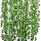Haobase Artificial Ivy Leaf Garland Plants - 78 ft 10 Pack Vine Hanging Wedding Garland Fake Foliage Flowers Home Kitchen Gar