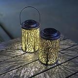 Hanging Solar Lights Outdoor - Solar Lanterns Garden Solar Patio Table Lamps Decorative SUNWIND 2 Pack for Garden, Backyard,