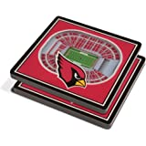 YouTheFan NFL 3D Team StadiumViews 4x4 Coasters - Set of 2