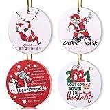 VAINECHAY 2021 Christmas Ornaments Quarantine Christmas Tree Ornaments 2021 Christmas Ornament Pandemic, Pack of 4pcs