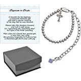 Baptism to Bride Cross Bracelet for Boys in Sterling Silver