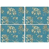 Pimpernel Sanderson Etchings and Roses Blue Placemats - Set of 4