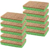 Natural Plant-Based Scrub Sponge by scrub-it, Non-Scratch, Biodegradable scrubbing sponges for Kitchen and Bathroom- Single W