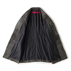 Sage de Cret Patchwork Jacquard Coat 31-50-9277: White / Black